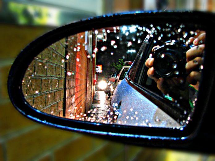 Car Mirror in Drive through