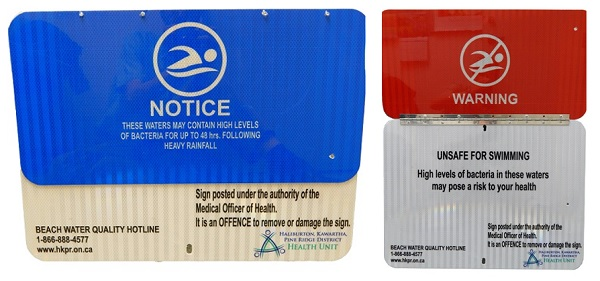 Local beach water monitoring starts this week as new signage